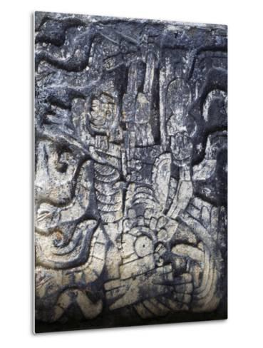 Human Figure, Relief of the Temple of the Jaguars, Chichen Itza--Metal Print