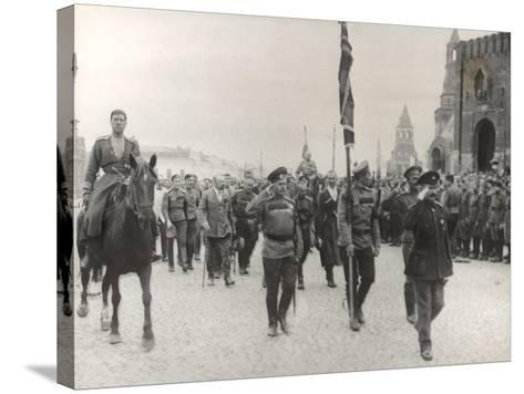 Sending Off Troops to the Front, Moscow, June 1917--Stretched Canvas Print