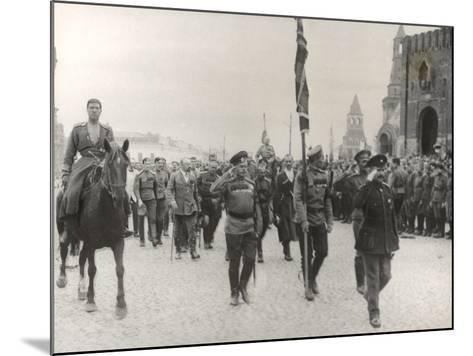 Sending Off Troops to the Front, Moscow, June 1917--Mounted Photographic Print