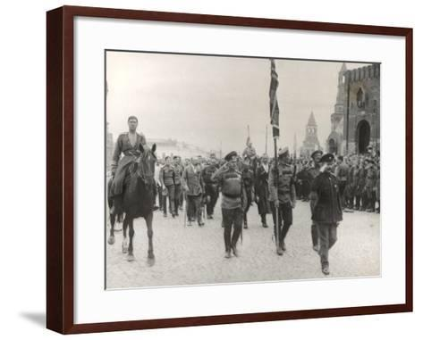 Sending Off Troops to the Front, Moscow, June 1917--Framed Art Print