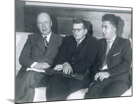 The Composers Sergei Prokofiev, Dmitri Shostakovich and Aram Khachaturian--Mounted Photographic Print