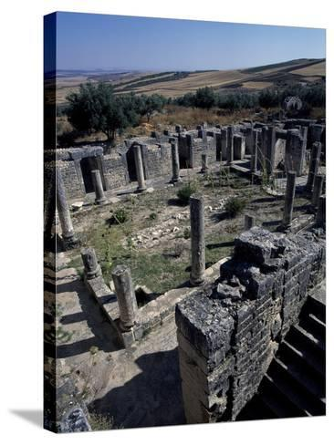 Brothel of House of Clover, Ancient Roman City of Thugga or Dougga--Stretched Canvas Print
