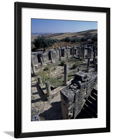 Brothel of House of Clover, Ancient Roman City of Thugga or Dougga--Framed Art Print