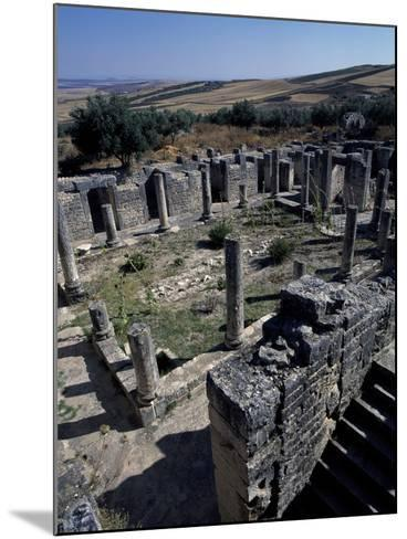 Brothel of House of Clover, Ancient Roman City of Thugga or Dougga--Mounted Photographic Print