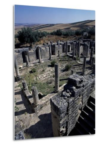 Brothel of House of Clover, Ancient Roman City of Thugga or Dougga--Metal Print