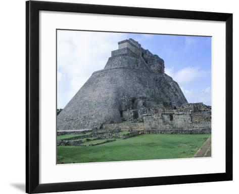 The Pyramid of the Magician, Puuc Style Building in Uxmal--Framed Art Print