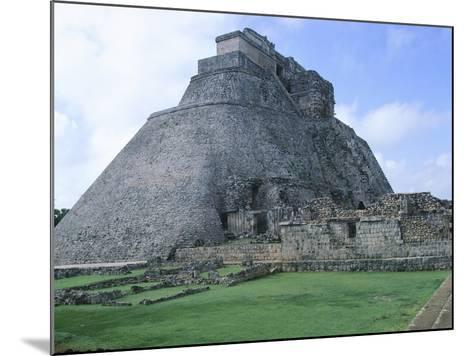 The Pyramid of the Magician, Puuc Style Building in Uxmal--Mounted Photographic Print