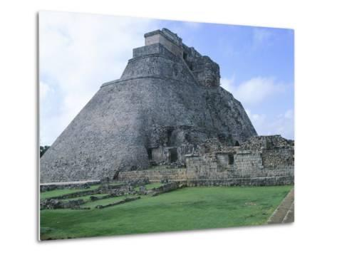 The Pyramid of the Magician, Puuc Style Building in Uxmal--Metal Print
