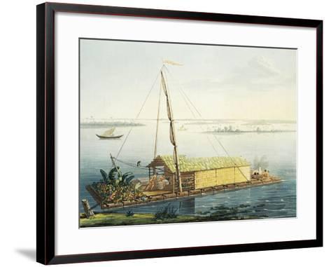 Raft on Guayaquil River, Ecuador-Alexander Von Humboldt-Framed Art Print