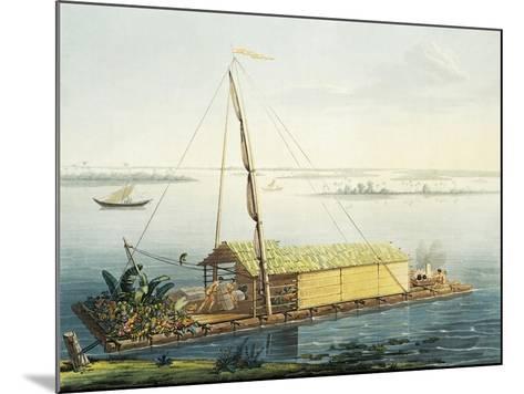 Raft on Guayaquil River, Ecuador-Alexander Von Humboldt-Mounted Giclee Print