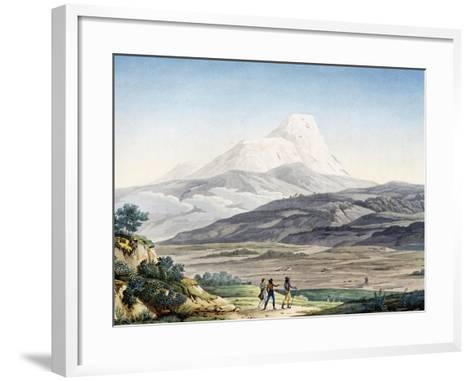 Vulcano Cayambe in Region of Quito, Ecuador-Alexander Von Humboldt-Framed Art Print