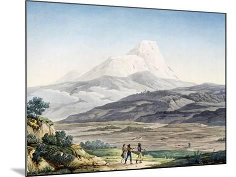 Vulcano Cayambe in Region of Quito, Ecuador-Alexander Von Humboldt-Mounted Giclee Print