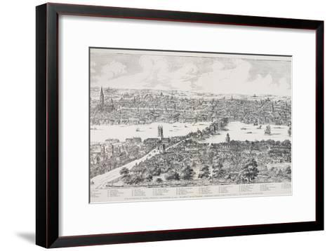 Panorama of London, Westminster and Southwark, Illustration from 'Maps of Old London', 1543-Anthonis van den Wyngaerde-Framed Art Print
