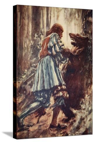 Once When Attacked by a She-Bear He Choked Her with His Bare Hands-Arthur C. Michael-Stretched Canvas Print