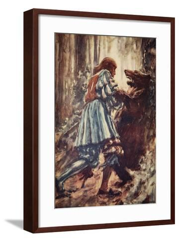 Once When Attacked by a She-Bear He Choked Her with His Bare Hands-Arthur C. Michael-Framed Art Print