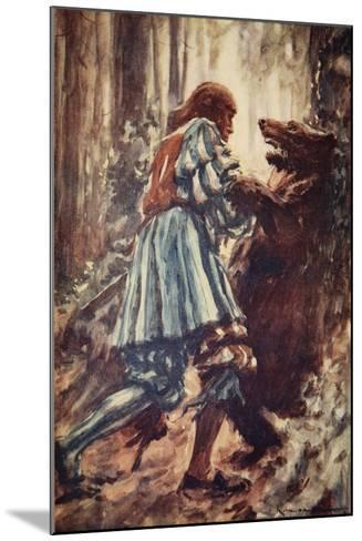 Once When Attacked by a She-Bear He Choked Her with His Bare Hands-Arthur C. Michael-Mounted Giclee Print