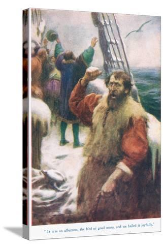 The Rime of the Ancient Mariner, Illustration from 'Stories from the Poets'-Arthur C. Michael-Stretched Canvas Print
