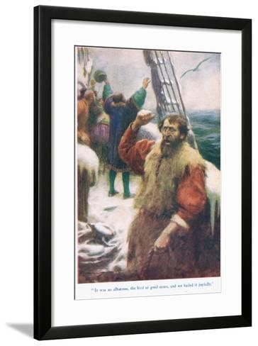 The Rime of the Ancient Mariner, Illustration from 'Stories from the Poets'-Arthur C. Michael-Framed Art Print