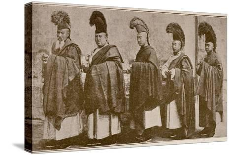 Lamas in Choral Dress, from 'Grandeur and Supremacy of Peking'-Alphonse Hubrecht-Stretched Canvas Print