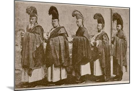 Lamas in Choral Dress, from 'Grandeur and Supremacy of Peking'-Alphonse Hubrecht-Mounted Photographic Print