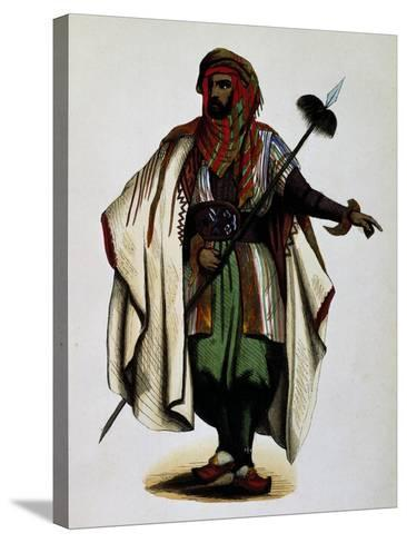 Residents of Mont Liban, Engraving from Dresses and Costumes of All Peoples of World, Asia-Auguste Wahlen-Stretched Canvas Print