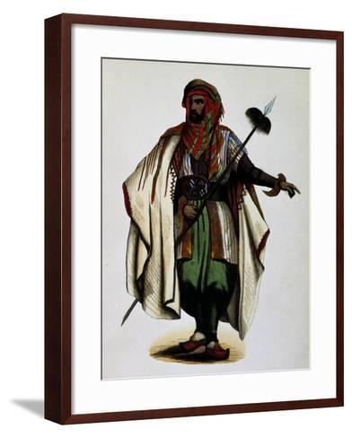 Residents of Mont Liban, Engraving from Dresses and Costumes of All Peoples of World, Asia-Auguste Wahlen-Framed Art Print