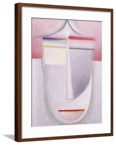 Abstract Head: Composition No 2 'Winter'; Abstraker Kopf: Komposition Nr 2 'Winter', C.1924-Alexej Von Jawlensky-Framed Art Print