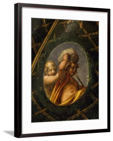 Puttoes, Detail from the Frescoed Vault, 1518-1519-Antonio Allegri Da Correggio-Framed Art Print