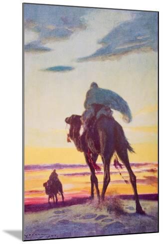 The Flight of Muhammad to Medina-Arthur C. Michael-Mounted Giclee Print