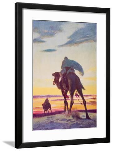 The Flight of Muhammad to Medina-Arthur C. Michael-Framed Art Print