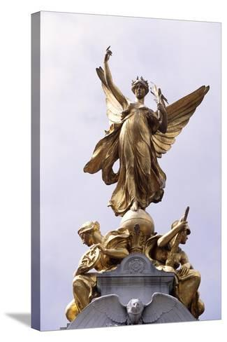 Allegorical Figure Representing Victory, Detail of Victoria Memorial-Aston Webb-Stretched Canvas Print