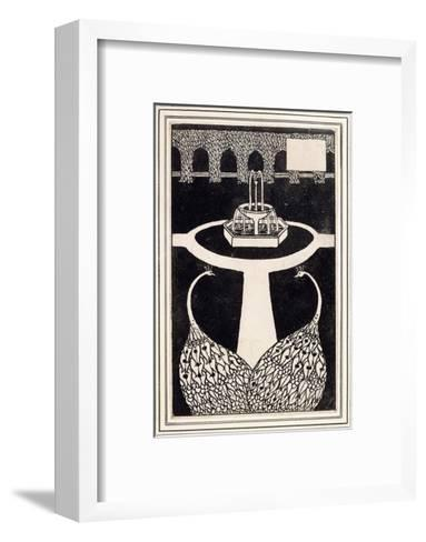 Chapter Heading Depicting Two Peacocks in a Garden with a Fountain, C.1893/4-Aubrey Beardsley-Framed Art Print