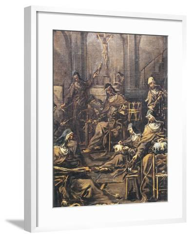 Nuns Spinning and Embroidering-Alessandro Magnasco-Framed Art Print