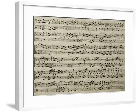 Score for Six Sonatas for Harpsichord, Opus 4-Carl Philipp Emanuel Bach-Framed Art Print
