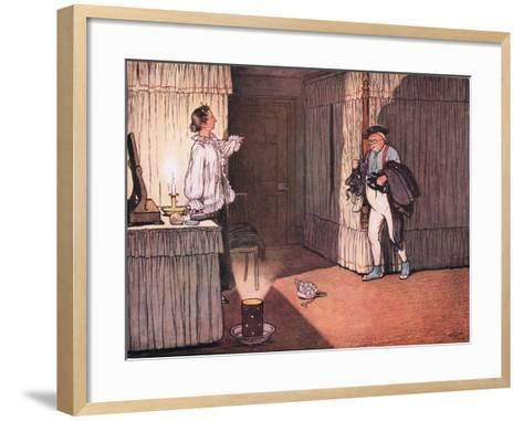"I Trust Ma'Am, Resumed Mr Pickwick, That My Unblemished Character and..""-Cecil Aldin-Framed Art Print"