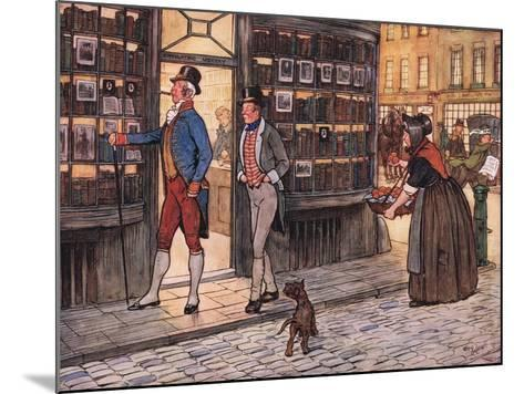 And Here to the Great Horror of Mr John Smauker, Sam Weller, Began to Whistle-Cecil Aldin-Mounted Giclee Print
