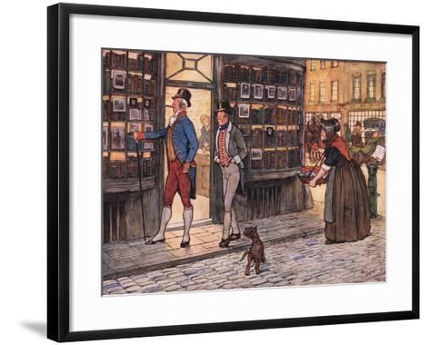 And Here to the Great Horror of Mr John Smauker, Sam Weller, Began to Whistle-Cecil Aldin-Framed Art Print