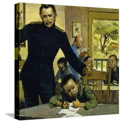 Gordon Helped Impoverished Children, Teaching Them in His House in Gravesend-Alberto Salinas-Stretched Canvas Print