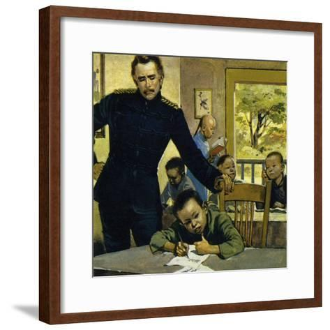 Gordon Helped Impoverished Children, Teaching Them in His House in Gravesend-Alberto Salinas-Framed Art Print