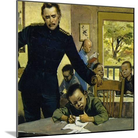 Gordon Helped Impoverished Children, Teaching Them in His House in Gravesend-Alberto Salinas-Mounted Giclee Print