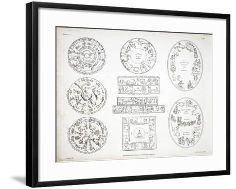 Various Representations of the Zodiac-Alexander Jamieson-Framed Art Print