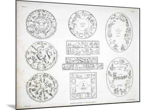 Various Representations of the Zodiac-Alexander Jamieson-Mounted Giclee Print