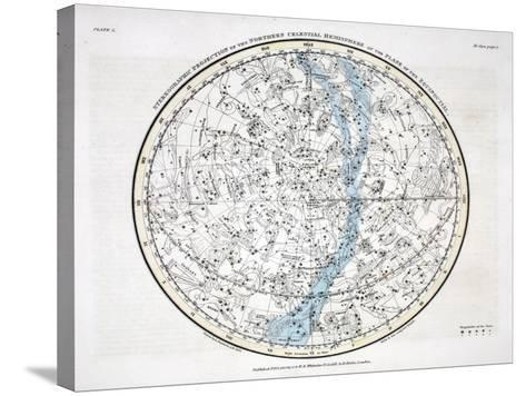 The Northern Hemisphere, from 'A Celestial Atlas' 1822-Alexander Jamieson-Stretched Canvas Print