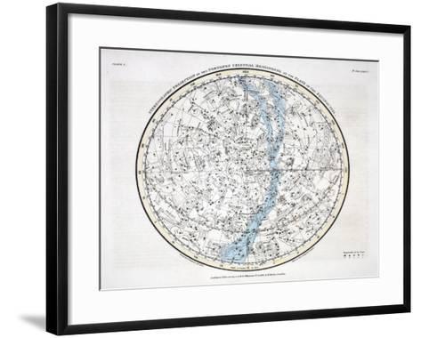 The Northern Hemisphere, from 'A Celestial Atlas' 1822-Alexander Jamieson-Framed Art Print