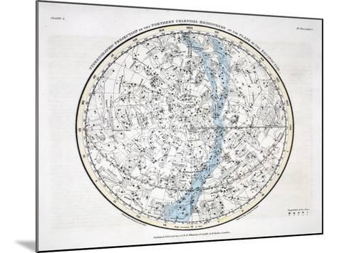The Northern Hemisphere, from 'A Celestial Atlas' 1822-Alexander Jamieson-Mounted Giclee Print