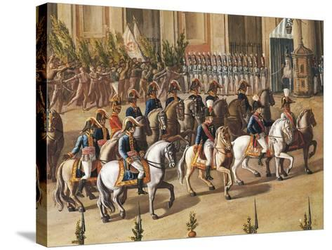 Arrival of Ferdinand I of Bourbon at the Royal Palace of Naples-Aniello De Aloysio-Stretched Canvas Print
