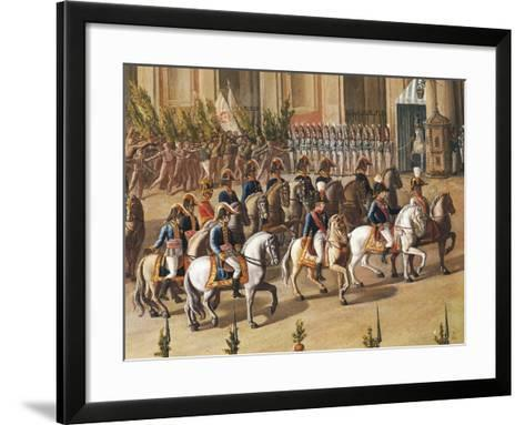 Arrival of Ferdinand I of Bourbon at the Royal Palace of Naples-Aniello De Aloysio-Framed Art Print
