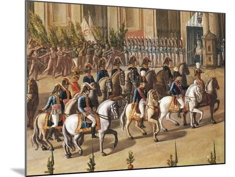 Arrival of Ferdinand I of Bourbon at the Royal Palace of Naples-Aniello De Aloysio-Mounted Giclee Print