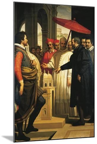 Michelangelo Presenting the Model for the Completion of St Peter's to Pope Pius IV, 1618-1619-Domenico Cresti-Mounted Giclee Print