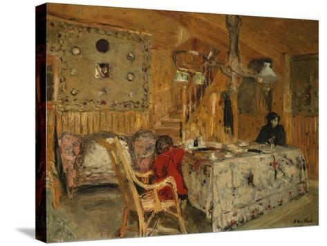 Denise Natanson and Marcelle Aron at the Summer House, Villerville, Normandy, C.1910-Edouard Vuillard-Stretched Canvas Print